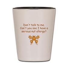 Nut Allergy Shot Glass
