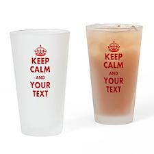 Custom Keep Calm Drinking Glass