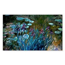 Monet - Irises and Water Lilie Decal
