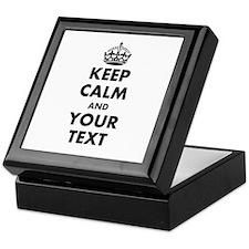 Personalized Keep Calm Template Keepsake Box