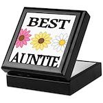 BEST AUNTIE EVER WITH FLOWERS Keepsake Box