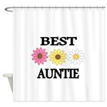 BEST AUNTIE EVER WITH FLOWERS Shower Curtain