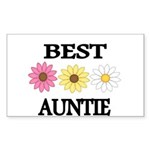BEST AUNTIE EVER WITH FLOWERS Sticker