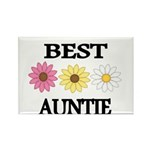 BEST AUNTIE EVER WITH FLOWERS Magnets