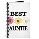 BEST AUNTIE EVER WITH FLOWERS Journal