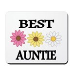 BEST AUNTIE EVER WITH FLOWERS Mousepad