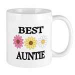 BEST AUNTIE EVER WITH FLOWERS Mugs