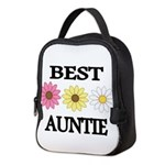 BEST AUNTIE EVER WITH FLOWERS Neoprene Lunch Bag