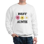 BEST AUNTIE EVER WITH FLOWERS Sweatshirt