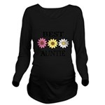 BEST AUNTIE EVER WITH FLOWERS Long Sleeve Maternit