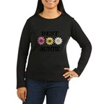 BEST AUNTIE EVER WITH FLOWERS Long Sleeve T-Shirt