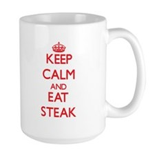 Keep calm and eat Steak Mugs