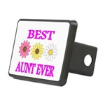 BEST AUNT EVER WITH FLOWERS 3 Hitch Cover