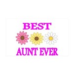 BEST AUNT EVER WITH FLOWERS 3 Wall Decal