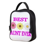 BEST AUNT EVER WITH FLOWERS 3 Neoprene Lunch Bag