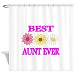 BEST AUNT EVER WITH FLOWERS 3 Shower Curtain