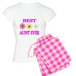 BEST AUNT EVER WITH FLOWERS 3 Pajamas
