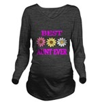 BEST AUNT EVER WITH FLOWERS 3 Long Sleeve Maternit