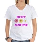 BEST AUNT EVER WITH FLOWERS 3 T-Shirt