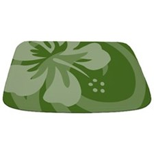 Hibiscus Dark Green Bathmat