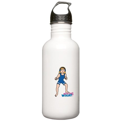 Woman Wrestler Blonde Hair Stainless Water Bottle