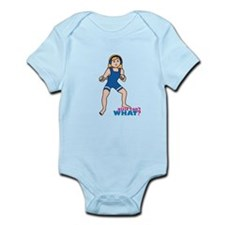 Woman Wrestler Blonde Hair Infant Bodysuit