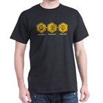 Time Travel + Genealogy = Happiness Dark T-Shirt