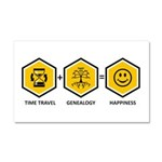 Time Travel + Genealogy = Happiness Car Magnet 20