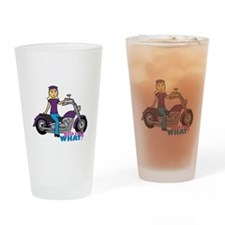 Biker Girl Light/Blonde Drinking Glass