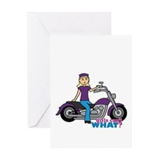 Biker Girl Light/Blonde Greeting Card