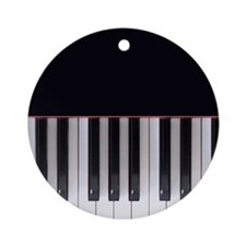 Piano Keys 7 Ornament (Round)