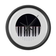 Piano Keys 7 Large Wall Clock