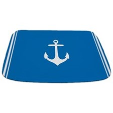 Nautical Blue Anchor Bathmat