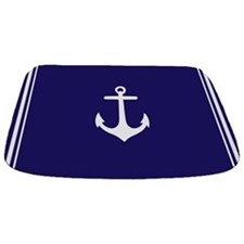 Nautical Navy Blue Anchor Bathmat