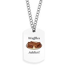 Waffles Addict Dog Tags