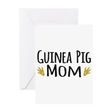 Guinea pig Mom Greeting Cards