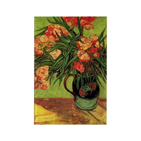Still Life Vase with Oleanders an Rectangle Magnet
