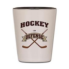 Hockey Defense Shot Glass