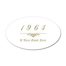 1964 Milestone Year 20x12 Oval Wall Decal
