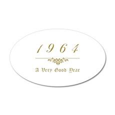 1964 Milestone Year 35x21 Oval Wall Decal