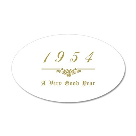 1954 Milestone Year 20x12 Oval Wall Decal