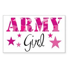 Army Girl Rectangle Decal