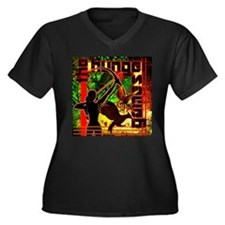 Katniss With Mockingjays Women's Plus Size V-Neck