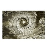 Sepia Fractal Postcards (Package of 8)