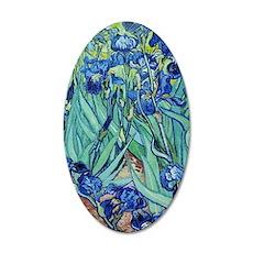 Iris, Vincent van Gogh. Vint 35x21 Oval Wall Decal