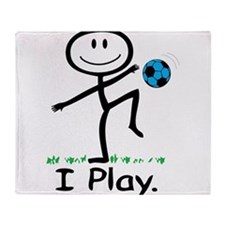 Funny Girl's soccer Throw Blanket