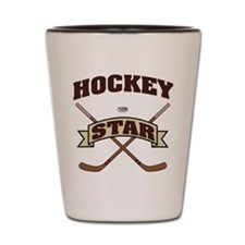 Hockey Star Shot Glass