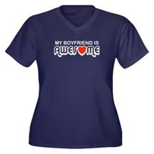 My Boyfriend is Awesome Women's Plus Size V-Neck D