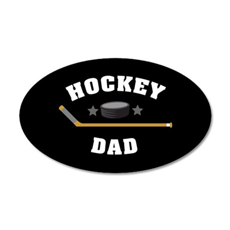 Hockey Dad 20x12 Oval Wall Decal