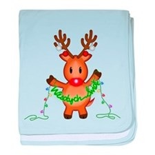 Wesolych Swiat Deer baby blanket